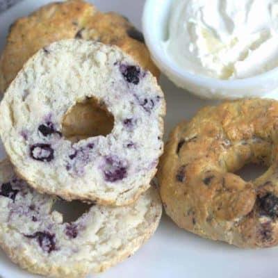 Air Fryer Blueberry Bagel