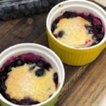 Air Fryer Blueberry Cobbler For Two
