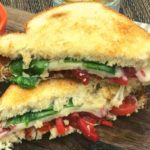 Air Fryer Roasted Red Pepper Grilled Cheese