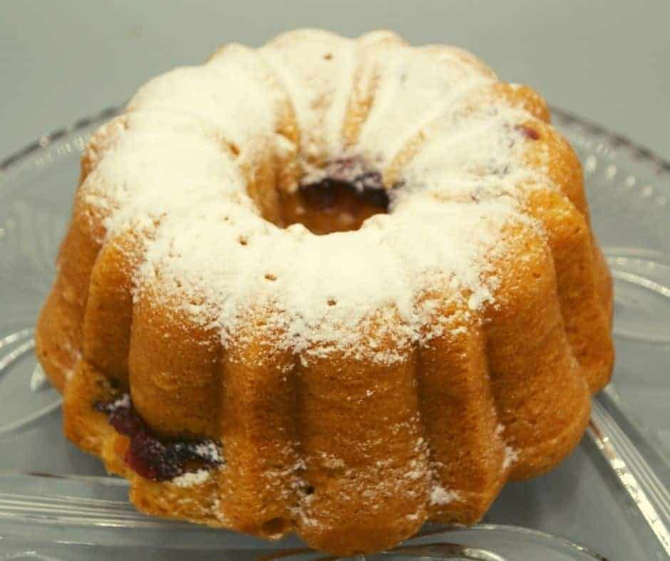 Air Fryer Raspberry Lemon Bundt Cake