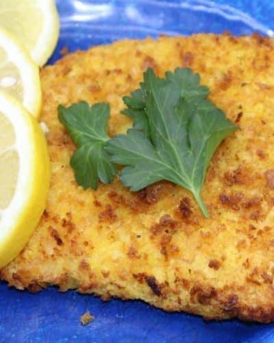 Air Fryer Honey Mustard Crusted Salmon