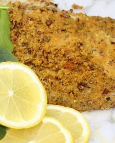 Air Fryer Pecan Crusted Trout