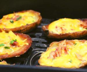 Air Fryer Loaded Potato Skins