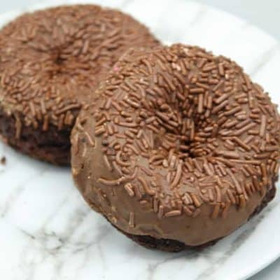 Air Fryer Chocolate Fudge Donuts