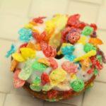 Air Fryer Fruity Pebble Donuts