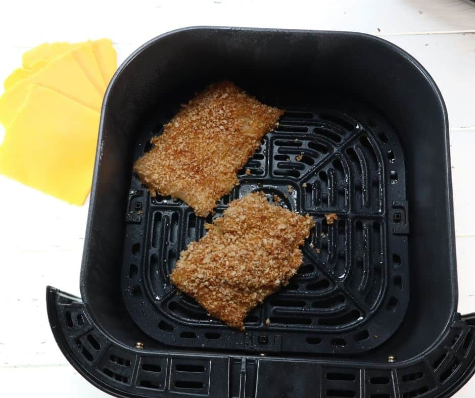 Put Fish into the Air Fryer