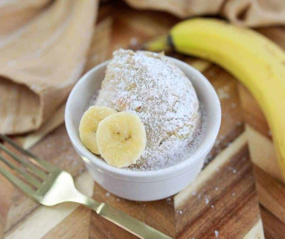 Air Fryer Banana Bread Mug Cake