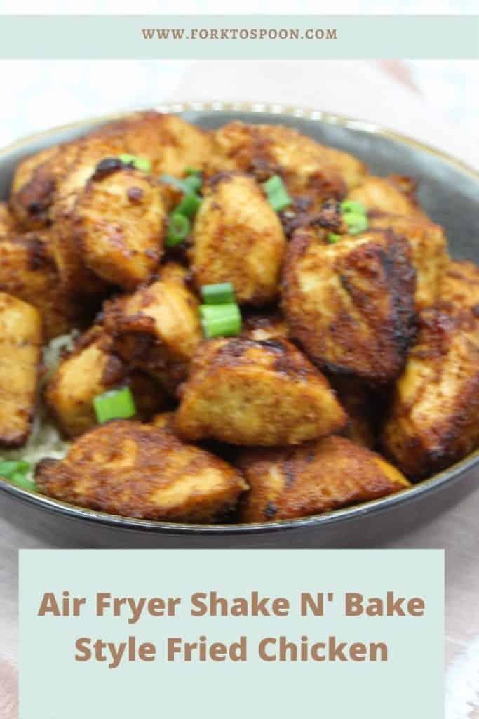 Air Fryer Shake N' Bake Style Fried Chicken