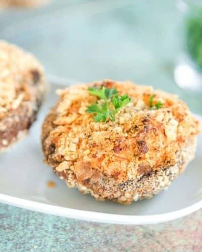 Air Fryer Jalapeno Popper Stuffed Mushrooms
