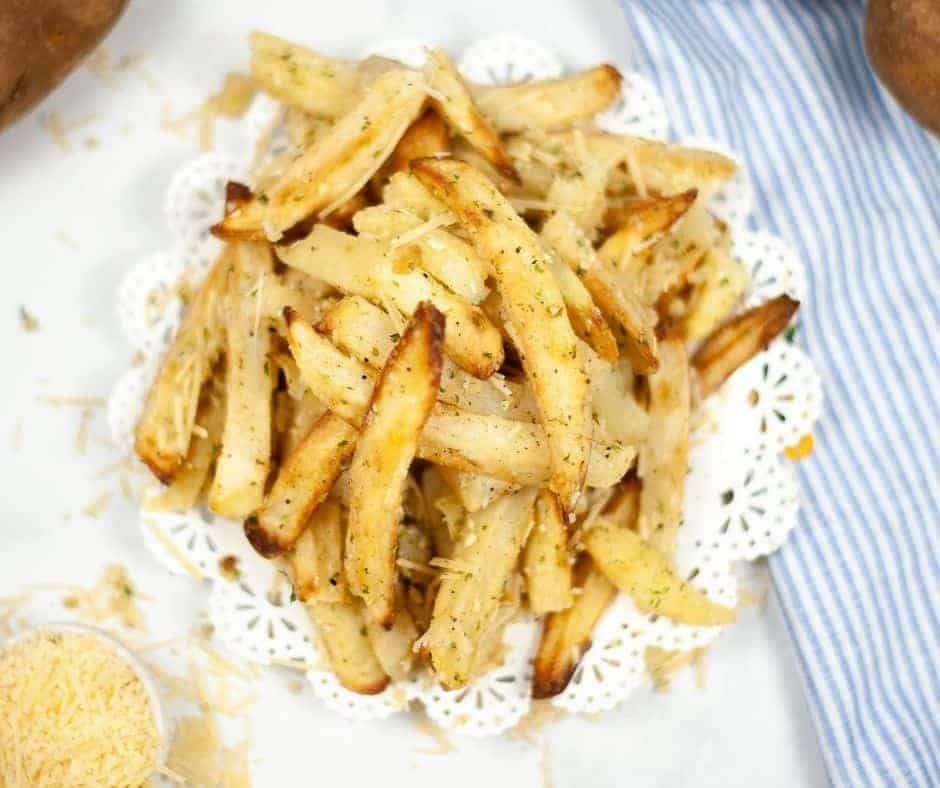 Air Fryer Garlic Parmesan Fries