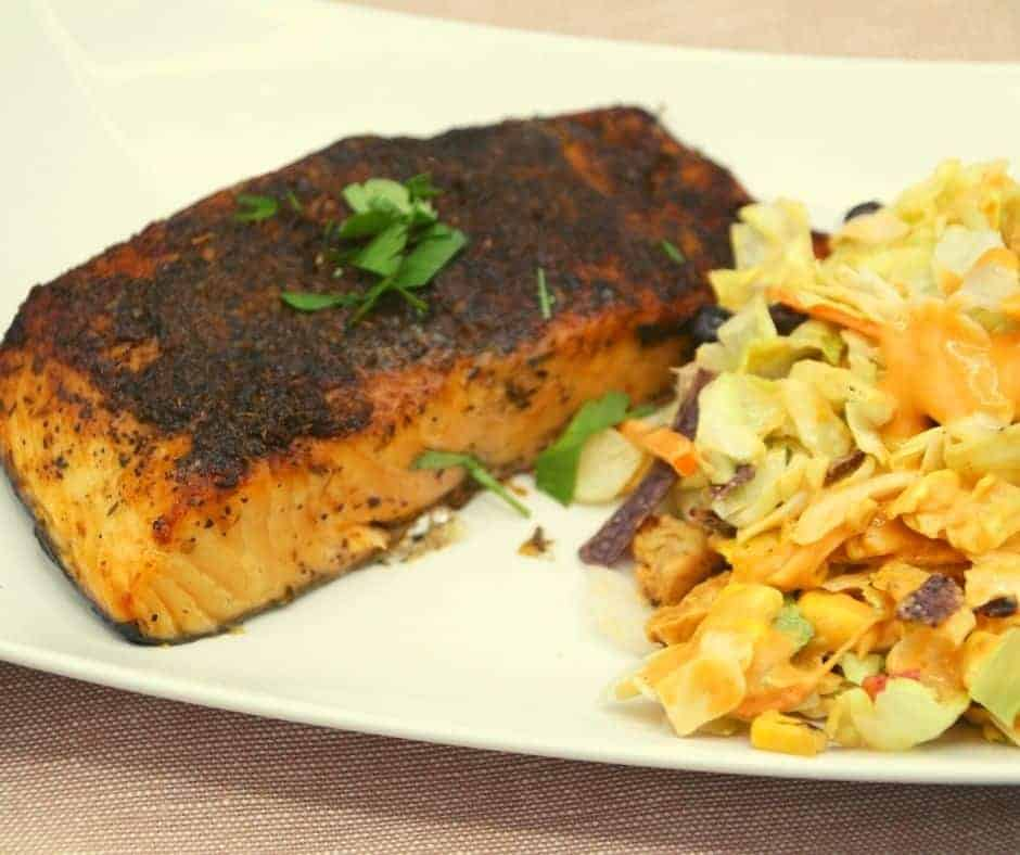 Air Fryer Blackened Salmon
