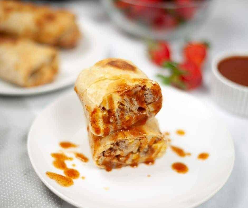 Air Fryer Breakfast Chimichangas