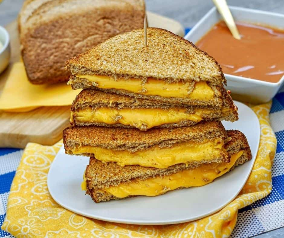 WW Air Fryer Grilled Cheese