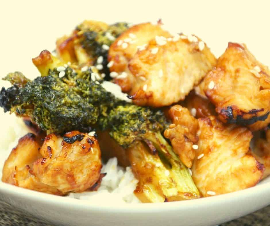 Air Fryer Chicken and Broccoli