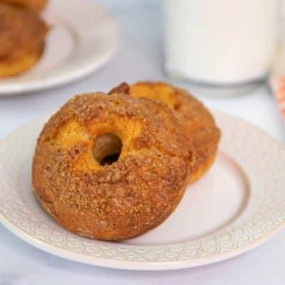 Air Fryer Cinnamon Crumb Donuts