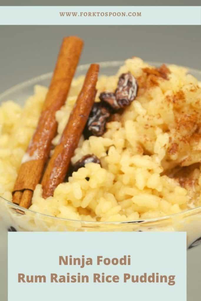 Ninja Foodi Rum Raisin Rice Pudding