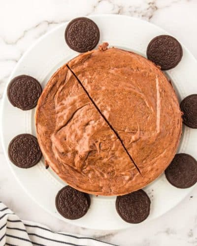 Air Fryer Chocolate Cheesecake
