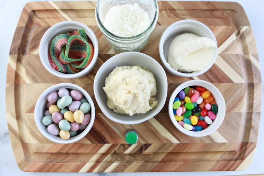 Ingredients Needed In Air Fryer Easter Basket Cookie Cups