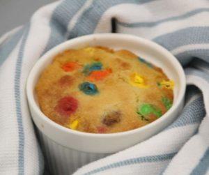 Air Fryer M&M Mug Cookie