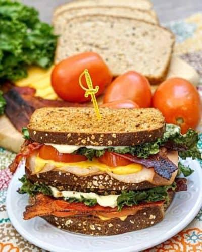 Air Fryer Turkey Club Sandwich