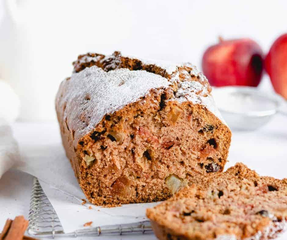 Air Fryer Apple Cranberry Bread