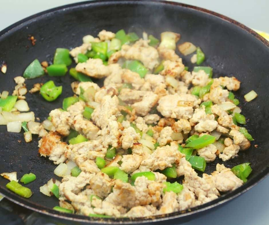 Ground Turkey and Vegetables.