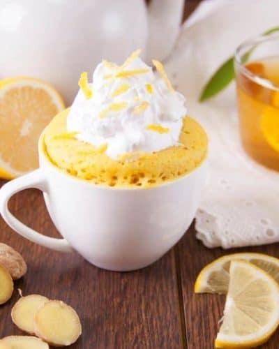 Air Fryer Lemon Mug Cake