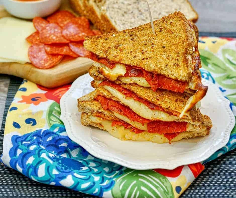 Air Fryer Pizza Sandwiches