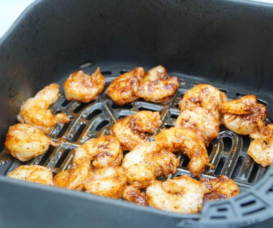 Shrimp in Air Fryer Basket