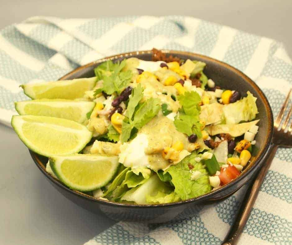 Air Fryer Beef Taco Salad