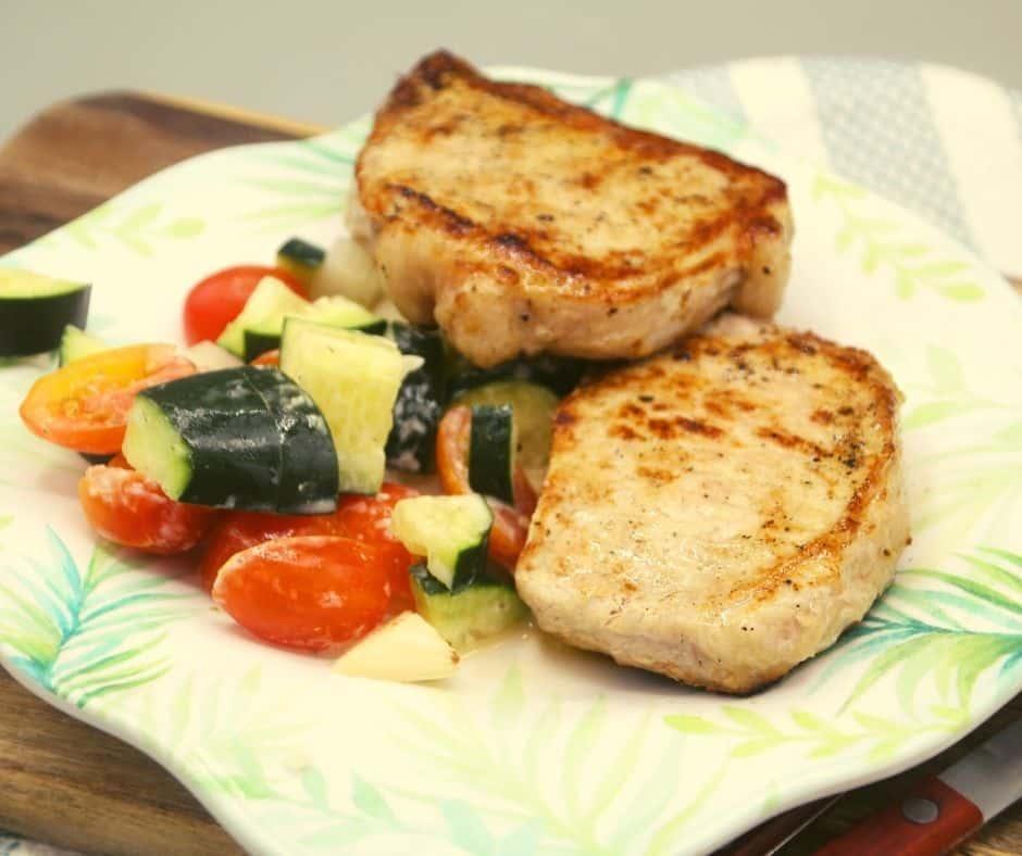 Blackstone Grilled Pork Chops