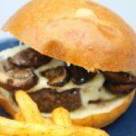 Air Fryer Mushroom & Swiss Burgers