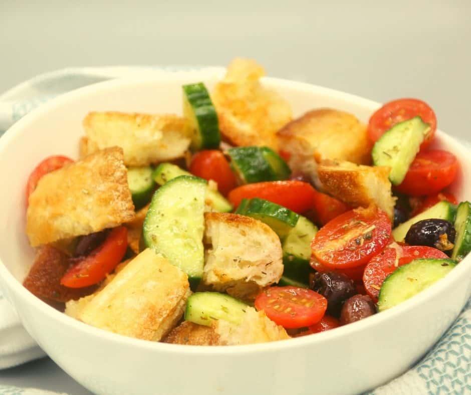 Air Fryer Grilled Panzanella Salad