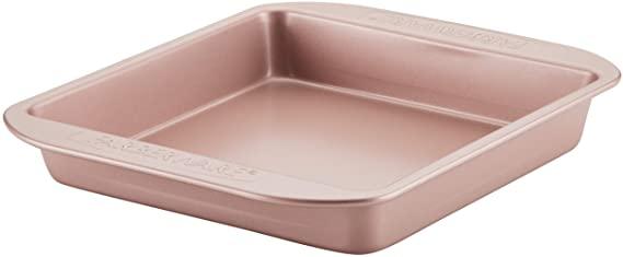Farberware Nonstick Bakeware Baking Pan / Nonstick Cake Pan, Square - 9 Inch, Red