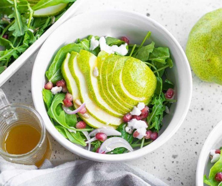 Air Fryer Roasted Pear Salad
