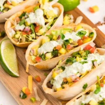 Air Fryer Mini Taco Bowls