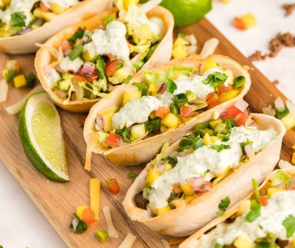 Air Fryer Mini Taco Bowls