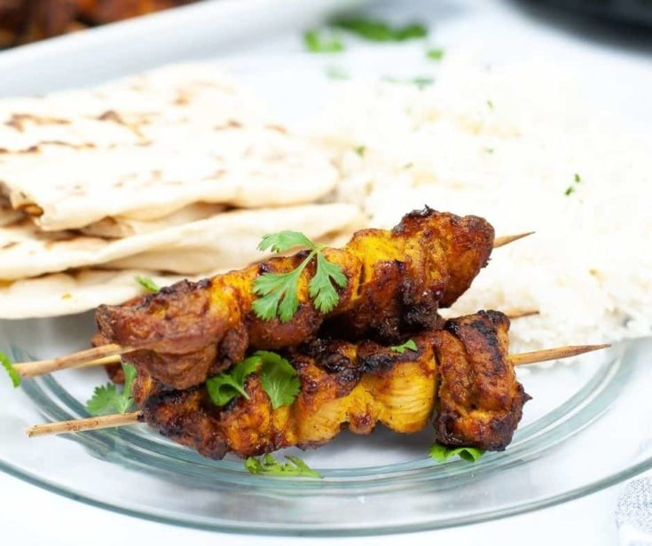 Air Fryer Tandoori Chicken Kebabs