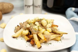 Air Fryer Easy Poutine French Fries