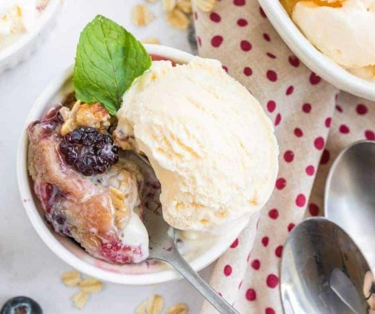 Air Fryer Mixed Berry Cobbler