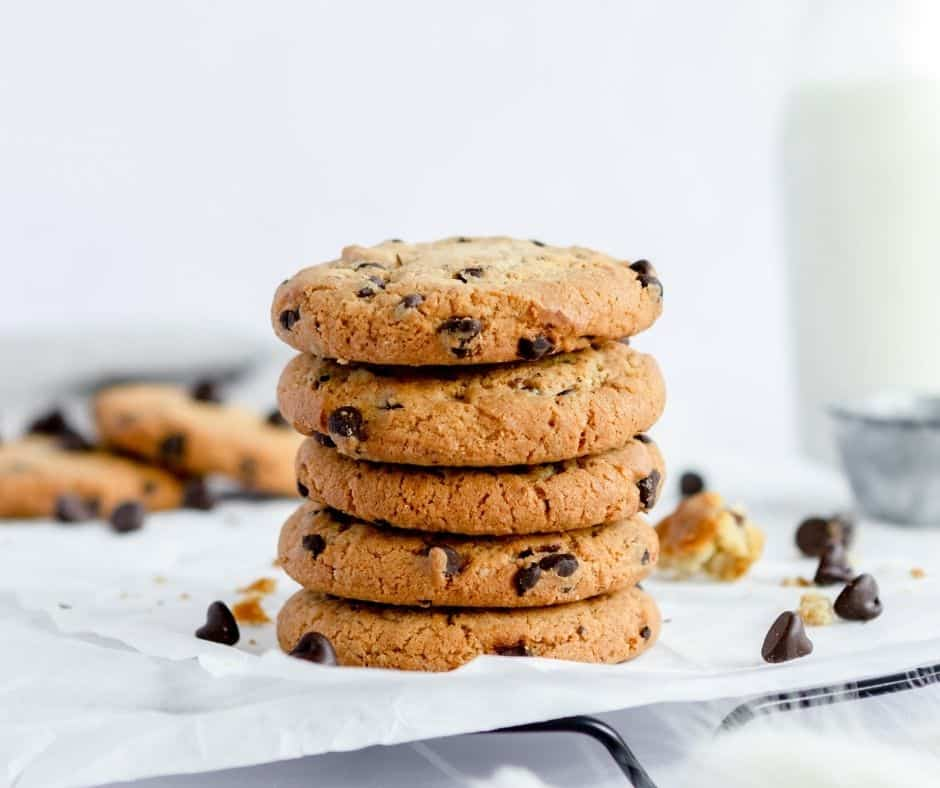 air fryer double tree chocolate chip cookies