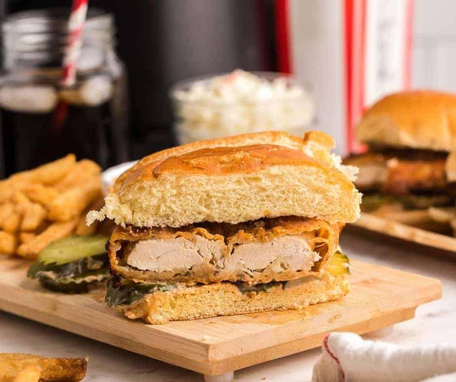 Air Fryer Copycat KFC Spicy Chicken Sandwich