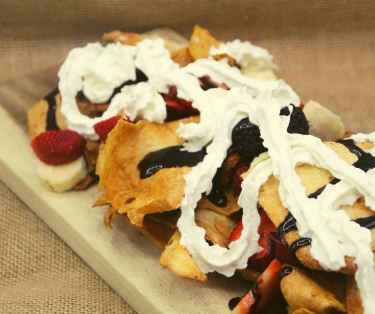 Air Fryer Dessert Nachos