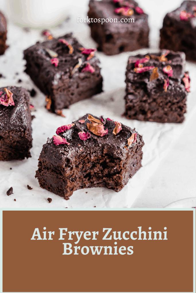 Air Fryer Zucchini Brownies