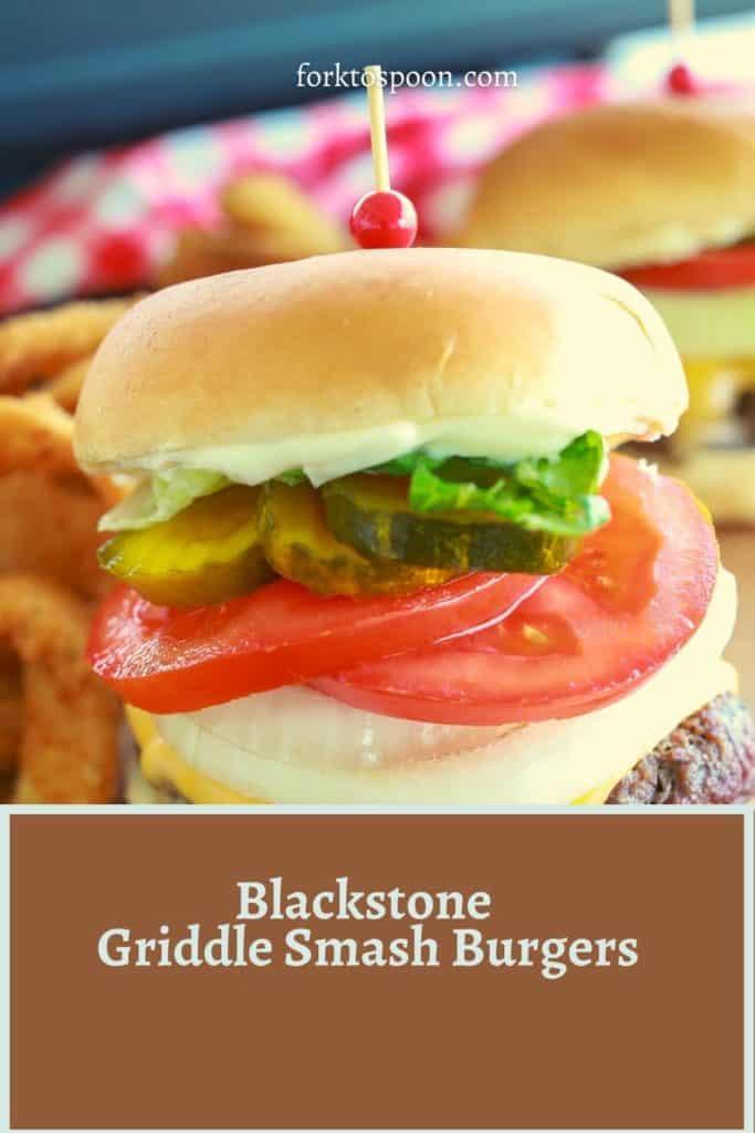 Blackstone Griddle Smash Burgers