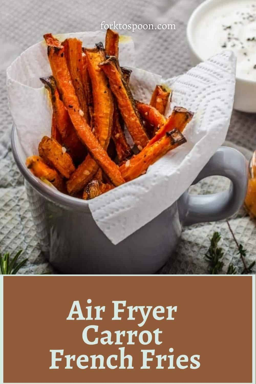 Air Fryer French Fries Carrots