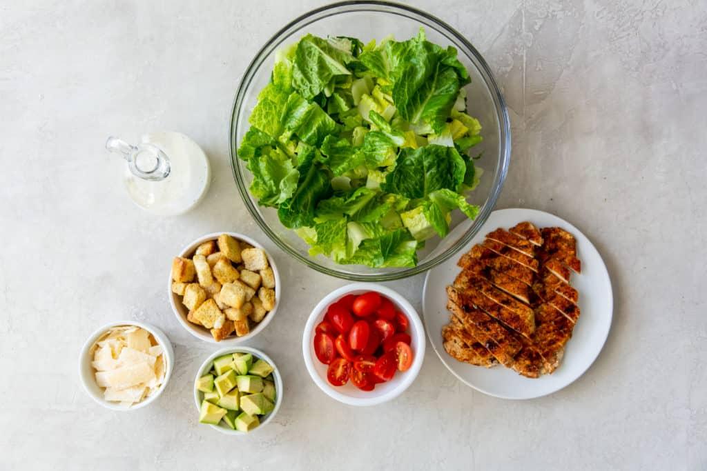 Ingredients In Air Fryer Grilled Chicken Caesar Salad