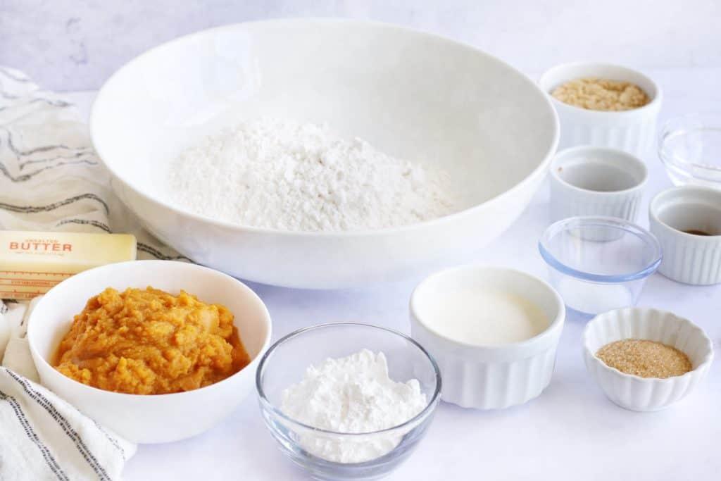 Ingredients Needed For Air Fryer Glazed Pumpkin Scones