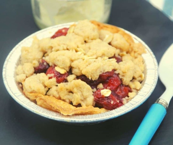 Air Fryer Cherry Crumb Pie