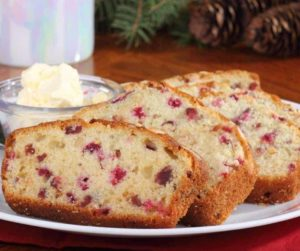 Air Fryer Cranberry Bread With Orange Glaze